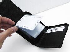 BLACK GENUINE LEATHER MEN BIFOLD WALLET CARD INSERT  ZIP AROUND