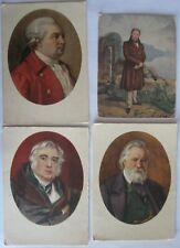 4 Postcards USSR Russian Writers.