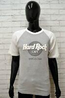 Maglia HARD ROCK Uomo Taglia S Maglietta Shirt Man Cotone Manica Corta Grigio