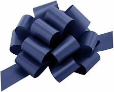 """Navy Blue Decorative Gift Pull Bows - 5"""" Wide, Set of 10"""
