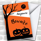 Silhouette Pumpkins Personalized Happy Halloween Card