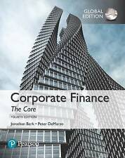 Corporate Finance: The Core by Peter DeMarzo, Jonathan Berk 978-1292158334