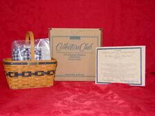 Longaberger J.W. Collector Club Mini Market Basket Combo with box New #5