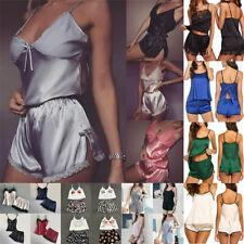 Women Lace Sleepwear Silk Pajamas Set Sexy Lingerie Babydoll Nightgown Nightwear