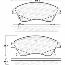 Disc Brake Pad Set-GAS Front Stoptech 308.15220