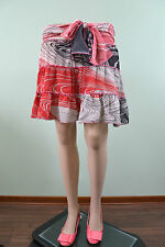 Womens Vtg 80s Retro Frill Casual Ruff Fashion Party Sexy Skirt sz 12 14 M/L G91