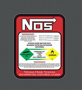 Nitrous Oxide Injection bottle sticker jdm nos drift decal