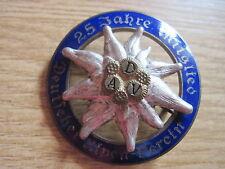 """DAV-insignia"""" 25 años miembro alemán Alpes-Verein"""