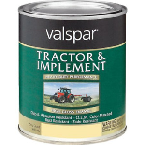 Valspar 4432-15 Tractor and Implement Enamel Paint, High-Gloss, White, 1 qt, Can