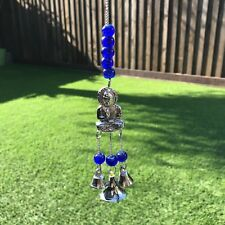 NEW THAI BUDDHA WIND CHIME METAL DECORATIVE WALL HANGING GARDEN HOME FENG SHUI