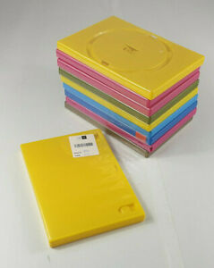 10 Coloured Mixed DVD Cases