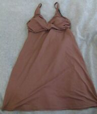 Boston Proper Dress Swimsuit Brown Size S Small Tankini Top Cover Up Padded