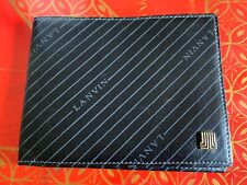 LANVIN VINTAGE MENS SPELL OUT LEATHER BIFOLD WALLET