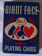 Vintage Playing Cards Deck Coated Arrco Chicago USA Giant Face Linen Finish