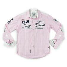 CAMP DAVID Herren Hemd S 48 rosa Regular Fit MONZA IMOLA langarm Shirt wie NEU