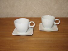 THOMAS *NEW* TREND FACTORY Set 2 Tasses espresso Blanc Cups White