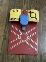 Vintage Marx Skyway City Airport Tin Toy FOR PARTS