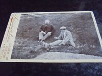 Cdv old photograph men walkers or work men by Seaman Chesterfield 1890s