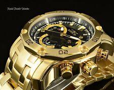 Invicta 48mm ProDiver SCUBA 3.0 BLACK DIAL Quartz Chronograph 18k GoldTone Watch