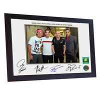 Rafael Nadal Pete Sampras Andre Agassi Roger Federer signed photo print Framed