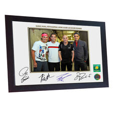 Rafael Nadal Pete Sampras Andre Agassi Roger Federer signed photo print Framed