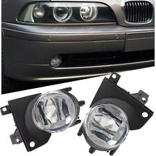 Pair For 2001-2003 BMW E39 5 Series Black Bumper Driving Fog Light Lamp Housing