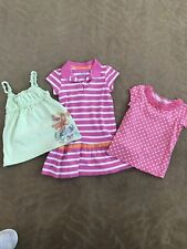 Lot Girls Clothes Size 4T Play Outfits Pink Green Dress Tank Shirt Children's