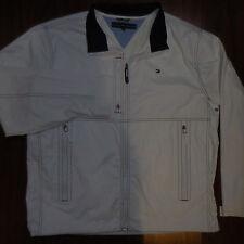 TOMMY HILFIGHER RAINCOAT JACKET Coat Mens Size XL Full Zipper Front White