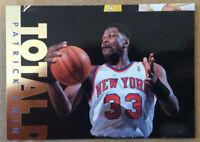 RARE MISCUT 1995-96 Fleer Total D #2 Patrick Ewing INSERT New York Knicks HOF NM