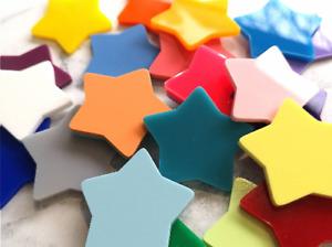 15pk Colour Mix Stars, Reward Jar Tokens, Children's Arts and Craft Supplies