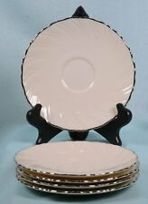 Lot of (5) LENOX Dinnerware WEATHERLY Wavey Ivory & Silver  SAUCERS