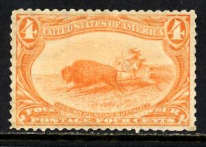 SCOTT 287 1898 4 CENT TRANS MISSISSIPPI EXPOSITION ISSUE MNH OG VF CAT $330!
