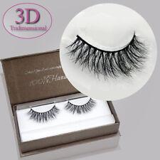 1 Pair Mink Hair False Eyelashes 3D Tridimensional Lifelike Style Cross Natural