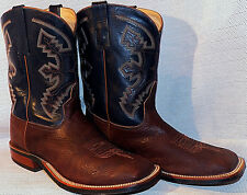 Anderson Bean Chocolate Shoulder Square Toe Nitrene Sole Cowboy Boots 11.5 EE