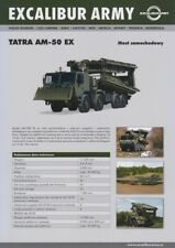 EXCALIBUR ARMY TATRA AM-50 EX BRIDGE LAYER 2016 8x8 MILITARY BROCHURE PROSPEKT