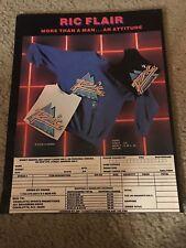 Vintage RIC FLAIR NWA Wrestling Merchandise Print Ad Shirt 1980s RARE
