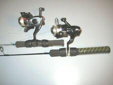 "Set Of 2 Ice Fishing Pole Rods Frabill GZ10 & FIX102A  27""  Med/Light Rod"