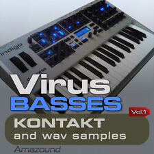 ACCESS VIRUS BASSES for KONTAKT 311 NKI 2512 WAV SAMPLES 24bit 2.8GB MAC PC MPC