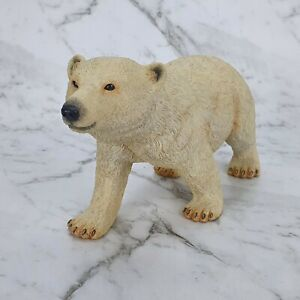 Country Artists Hand Paint Large Polar Bear Standing Figurine Sculpture 03262