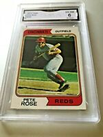 PETE ROSE 1974 Topps #300 GMA Graded 7.5 NM+