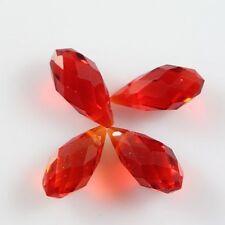 Pendants 10 Pcs Swaro/vski 6*12mm Teardrop Crystal beads E RED