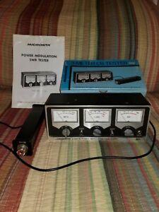 MICRONTA MODEL 21-522 3 RANGE POWER MODULATION SWR TESTER 3  METER CB RADIO