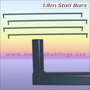 4 x 6 Foot Standard Market Stall Bars - 1.8m Steel Bar For Stand / Display Units