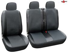 For Renault Trafic Master Black PU Leather & Premium Fabric Seat Covers 2+1 UK