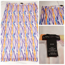 "Lane Bryant Skirt Size 22/24 Length 41"" Multicolor Stretch Waist Dress New NWOT"