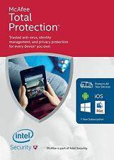Mcafee total protection unlimited appareils 12 mois (pc/mac/android/ios)