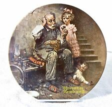 Knowles Norman Rockwell Bradford Exchange Collectable Plates THE COBBLER 944