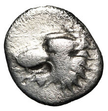 Athena & Lion Portrait Silver Greek Coin Side Pamphylia Certified Authentic Coa
