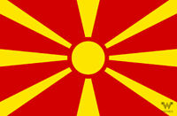 Flagge Nordmazedonien Mazedonien Aufkleber 8,5 x 5,5 cm – Fahne Sticker WHATABUS