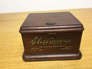 Antique Electropoise Medical Instrument Wood Box Late 1800s - Excellent (MAR94)